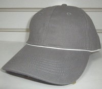 Free shipping simple promotional baseball cap 6 panel cap sport hat-black with white back closure
