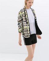 New Spring Women Fashion Irregular Plaid Patchwork Kimono Style Casual Blazer,Ladies Cardigan Design None Botton Coats w18