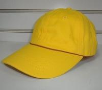 Free shipping simple promotional baseball cap 6 panel cap sport hat-yellow