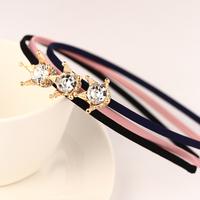 New 2014 Korean Style  Crown Hairbands Hair Jewelry For Women Rhinestone Headwear Accessories F054