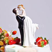 "Wholesale -Free shipping ""Love Swept"" Bride & Groom Wedding Cake Topper"