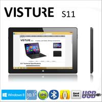 "free shipping Windows 8.1 Visture S11 10.1"" Quad Core Intel IPS 1280 x 800p 2GRAM 32G tablet pc Support External Bluetooth Mouse"