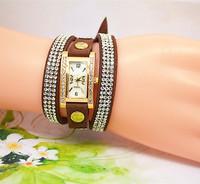 New watch  lot of rhinestone Gold plating fashion watch women bracelet Watch