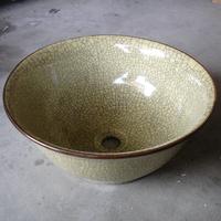 Fashion antique jingdezhen ceramic antique wash basin counter basin wash basin crack glaze