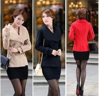 free shipping 2013 Korean version of the new winter coat ladies wool coat lapel short paragraph 5222