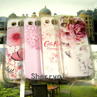 High quality Through White Edge Relief Coloured drawing Case,The flowers design Case For Samsung Galaxy3 i9300,1pcsFree shipping