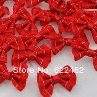 New 2014 Free Shipping Hot! 60 Pcs Upick Mini Ribbon Bows DIY Sewing Appliques Crafts Wedding Decor A0159-9