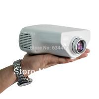 "Drop shipping Remote Portable Mini HD LED Projector 80"" Cinema Theater, PC Laptop VGA input mini projetor"