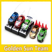 Free shipping 2013 Coke Can Mini RC Radio Remote Control Micro Racing Car Radio Control Toys