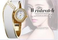 2014 Vogue Designer Luxury Gold Bangle Watches Fashion Bracelet Wristwatch Quartz Women Dress Clock,Icon Timepiece,10Colors,W004