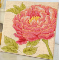 Free Shipping New Arrival Home cross stitch Flower flowers and focus juese meihekoushi peones gold linen cloth