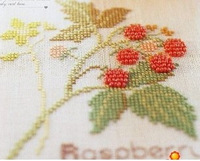 Free Shipping New Arrival Home cross stitch Strawberry bead linen fabric