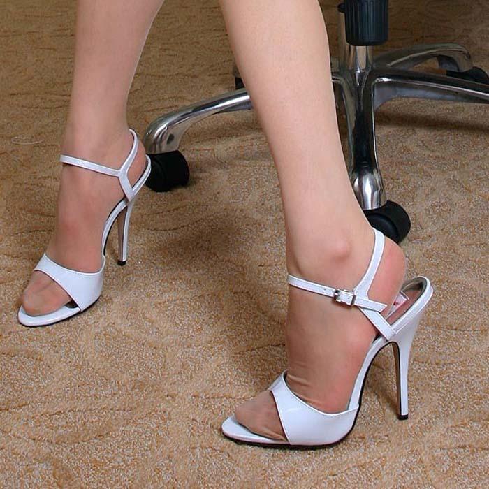 High heeled sandals mature