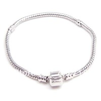 Aliexpress hot sale 7-8.5inch plated snake chain European charm bracelet DIY charm bracelets