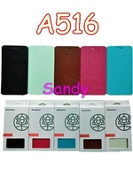 Hot Sale 2014 Newest Lenovo A516 Case Leather Flip Case In Stock Lenovo A516  Leather Flip Cover 1pcs Free Shipping