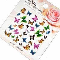 Saint nail art sticker watermark applique multicolour flat water after the big decorative pattern