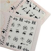 Saint nail art supplies tools finger sticker applique watermark pattern flat water 22