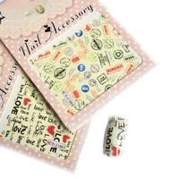 Saint nail art watermark flat decorative pattern map of letter finger stickers