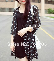 Fashion New 2014 Women Blouses Hot Selling Loose Starl Printed Chiffon Blouse Tops Autumn-Summer Shirt  #688