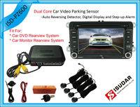 7 Color Dual Core Visual Car Video Parking Sensor Reverse Backup Radar System Digital Display and Step-up Alarm For DVD And TFT
