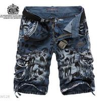 Disposable Panties 2014 Men Sport Shorts Hiking Multi-pocket Top Printed Military Running Outdoor short pant Size S-4XL,no Belt