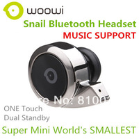 MUSIC SUPPORT WOOWI BTEC018 Smallest Wireless Pro Universal HD Bluetooth Headset Dual Standby Free Shipping