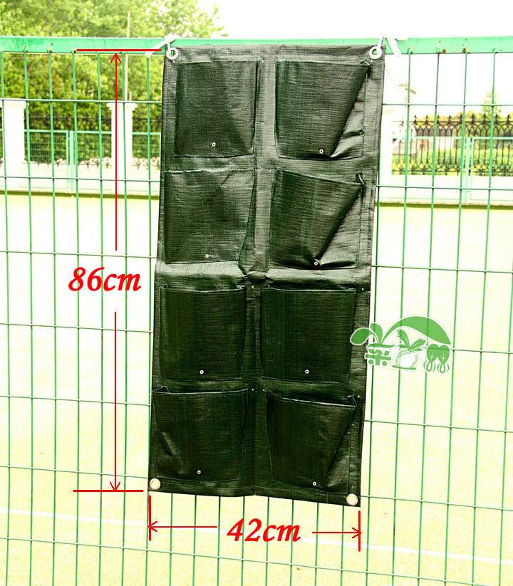4 PCes / lote 8 bolsos Vertical Garden Planter Vasos Plantadores interior parede plantadores Garden Supplies Atacado e Varejo(China (Mainland))