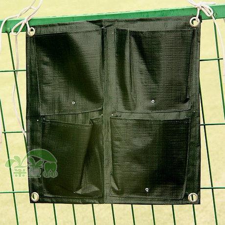 Alta Qualidade 4 bolsos Suprimentos Vertical Garden Planter Vasos Floreiras Verde muro do jardim(China (Mainland))