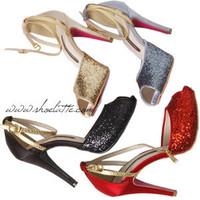 Aesthetic women's shoes 2014 sandals open toe shoes high heel paillette