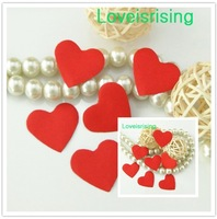 5 packs(750pcs) Red Color Mini Heart Shape Paper Diamond Confetti Rose Petal For Wedding Party Favor Decor-Free Shipping