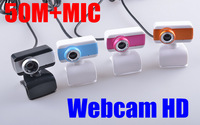 New Hot Sale 4 kinds of color USB 2.0 50.0M PC Camera HD Webcam Camera Web Cam with MIC+CD for Computer Laptop free shipping