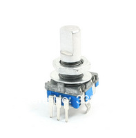 7mm 7 Detents 360 Degree Rotary Encoder Push Button Switch Keyswitch