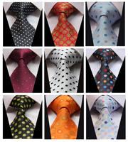 Polka Dot Color 100% Silk New Jacquard Woven Classic  Man's Tie Necktie