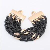 European And American Fashion Womens Hemp Flowers Retro Charm Bracelet!#558