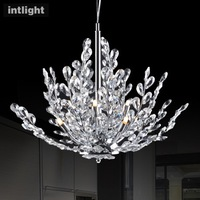 Free shipping Restaurant lamp chandelier crystal lamp bedroom living room study modern creative lamp lighting fixtures European
