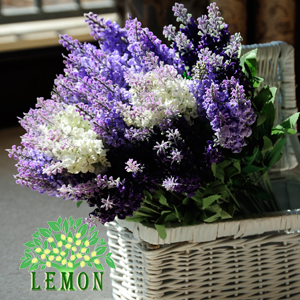 Free shipping / artificial flower / silk flower / lavender / home decoration / photography layout / wedding(China (Mainland))
