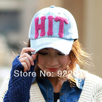 Korean tide of new baseball hat denim retro do old letters peaked cap for men and women casual cap