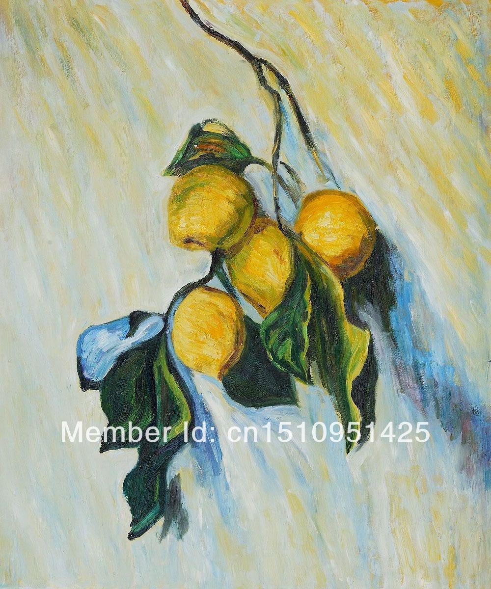 ramo de uma árvore de limão por claude monet- alta qualidade pinturas a óleo reprodução(China (Mainland))