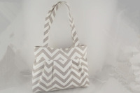 Hot Selling Chevron Cotton Canvas Ziazag Fabric Canvas Chevron Tote Bag