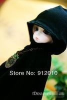 COS Halloween Witches Black Long Slayers Cloak 1/6 1/4.1/3 BJD Luts SD Clothes
