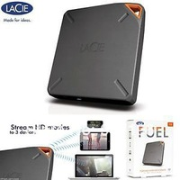 NEW L  a C  ie FUEL 1TB Portable Wireless Storage hard drive for iPad,iPhone,Mac,Android  Free Shipping