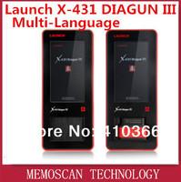Support 12V/24V  Launch X431 Diagun III  Diagun 3 Update via internet + Multi-Language + Universal Connectors  LAUNCH Factory