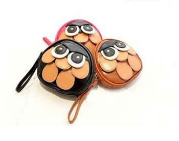 Бесплатная доставка Анимация мультфильм сумки горячий новый сова мешок рука одно плечо косой Сумка # G049