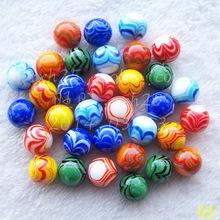 Hot artesanato colorido bolas de vidro 16 mm bola de vidro bola vaso aquário decorativo mármores damas criança bola 12 peças/pacote(China (Mainland))