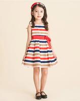 2014 Summer Girls Korean rainbow princess vest Dress children's clothing