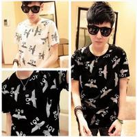 New short sleeve t shirts for boys promotion Eagle T-shirt short tee fashion mens t shirt new brand designs funny t shirt