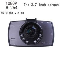 "2014 New 1080P night vision  Full HD Lens 170 degrees Car dvr video Recorder black box H.264 carcam blackbox for car  2.7"" Lcd"