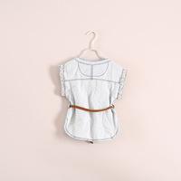 2014 Direct Selling Sale Girls Casaco Infantil Spiderman Wholesale Waistband Jeans Jacket Children's Clothing 6pcs/lot Ze033122