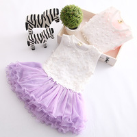 NEW!!kids tutu dress girls lace floral dress girls party dress  5pcs/lot