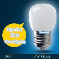 10pcs/lot free shipping 3w Led Bulb Lamp E27 220V 360 Degree White/Warm White Energy Saving Light Bulbs LED Lamps Lightbulb